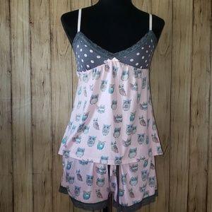 🦉PJ Salvage Owl Print Pajama Set